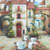 1000 Parça Puzzle Yap boz Köy Meydanı 68x48Keskin Color Puzz