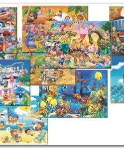 150 Parça Çocuk Yap boz Karma 35x50 Puzzle Keskin Color Puzz