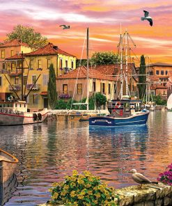 2000 Parça Yap boz Puzzle Harbour Sunset (11308) 68x48 Ks Games