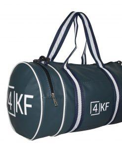 4KF Spor Çantası Klasik Yuvarlak Askılı Silindir Fitness Okul Gezi Gym Çantası Lacivert