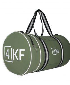 4KF Spor Çantası Klasik Yuvarlak Askılı Silindir Fitness Okul Gezi Gym Çantası Yeşil