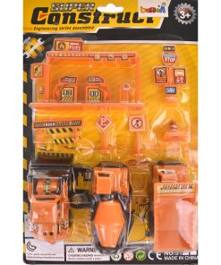 İnşaat Seti Oyuncak Kamyon Dozer Harç İş Makinesi Trafik İşareti