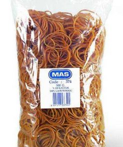 Mas Ambalaj Lastiği Toka Mini Küçük Boy 40/25 mm 500 gram %100 Kauçuk Mas 374