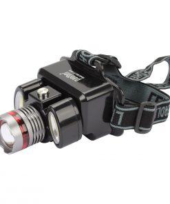3W Kafa Lambası LED Pilli Kamp Av Yürüyüş Arama Balık Feneri Zoomlu