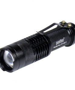 Şarjlı El Feneri Zoomlu T6 Led Kuvvetli Işık El Lambası (Şarj Cihazsız)