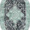 Oval Paspas Saçaklı Paspas Püsküllü Süngerli Hol Banyo Paspası 40x60cm Yeni Sezon 0367-3