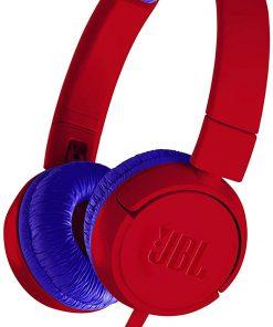 JBL Kulaklık JR300 Mikrofonlu Kulak Üstü Kulaklık Çocuk İçin Kırmızı Mavi