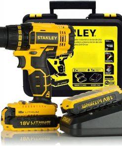 Stanley SBD20S2K Matkap 18V/1.5 Ah Li/Ion Çift Akülü Kömürsüz Vidalama/Matkap