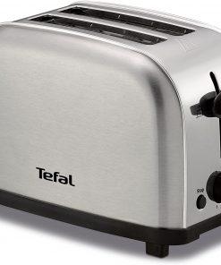 Tefal Ekmek Kızartma Makinesi TT330D11 Ultra Mini 700 Watt Paslanmaz Çelik Kızartma Makinesi Gri
