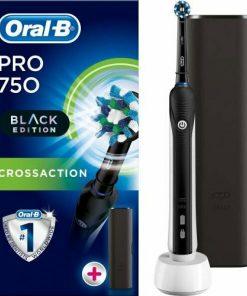 Oral-B Pro 750 Siyah Power Siyah Şarjlı Diş Fırçası