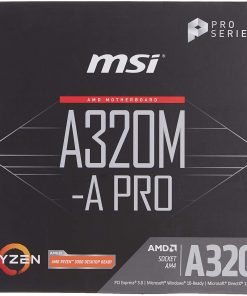 MSI A320M-A PRO AM4 DDR4 3200mhz(OC) DVI HDMI USB3.2 mATX Anakart