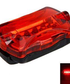 Arka Led Işık Bisiklet Arka Lambası Çok Fonksiyonlu Arka Işık Kırmızı Uyarı Işığı