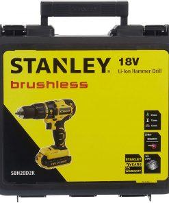 Stanley Darbeli Matkap SBH20D2K-TR Li-Ion Kömürsüz Şarjlı Matkap Sarı