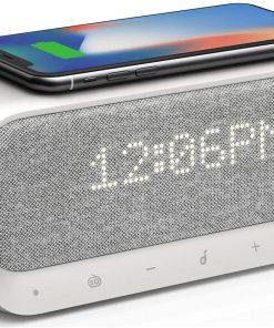 Anker Bluetooth Hoparlör SoundCore Wakey 10W Qi Hızlı Kablosuz Şarj Çalar Saat