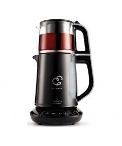 Karaca Çaysever Konuşan Chrome 1700 W Cam Demlikli Çay Makinesi